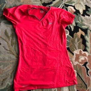 Red Nike dri fit T-shirt size medium